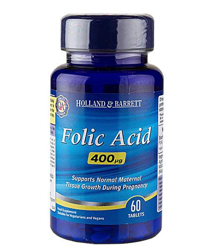 HOLLAND AND BARRETT Folic Acid 400 mcg / 60 Tabs