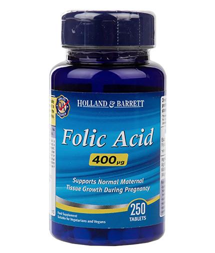 HOLLAND AND BARRETT Folic Acid 400 mcg / 250 Tabs