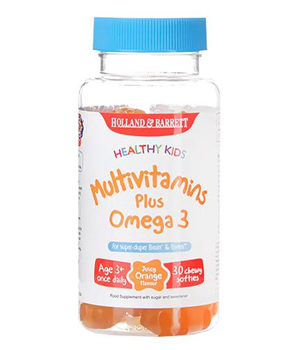 HOLLAND AND BARRETT Healthy Kids / MultiVitamins Plus Omega 3 / 30 Chews