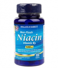 HOLLAND AND BARRETT Non-Flush Niacin 100 mg / 100 Tabs