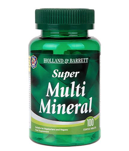 HOLLAND AND BARRETT Super Multi Mineral / 100 Tabs
