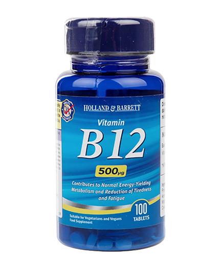 HOLLAND AND BARRETT Vitamin B12 Cyanocobalamin 500 mcg / 100 Tabs