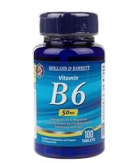 HOLLAND AND BARRETT Vitamin B6 / Pyridoxine 50 mg / 100 Tabs