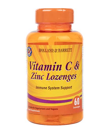 HOLLAND AND BARRETT Vitamin C & Zinc Lozenges / Immune System Support / 60 Lozenges
