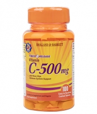 HOLLAND AND BARRETT Vitamin C 500 mg / Timed Release with Rose Hips & Bioflavonoids / 100 Caps