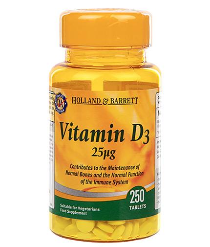 HOLLAND AND BARRETT Vitamin D3 1000 IU / 250 Tabs