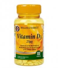 HOLLAND AND BARRETT Vitamin D3 1000 IU / 100 Tabs