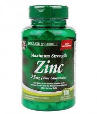 HOLLAND AND BARRETT Zinc Gluconate 25 mg / Maximum Strength / 100 Tabs