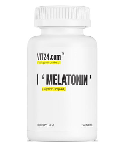 VIT24.COM Melatonin 1 mg / Nighttime Sleep Aid / 300 Tabs