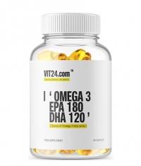 VIT24.COM Omega 3 / EPA 180 - DHA 120 / 90 Softgels