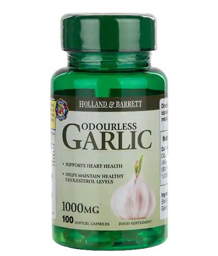 HOLLAND AND BARRETT Odourless Garlic 1000 mg / 100 Softgels