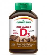 JAMIESON Natural Chocolate Flavour Chewable Vitamin D 1,000 IU / 100 Tabs