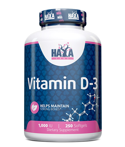 HAYA LABS Vitamin D-3 / 1000 IU / 250 Softgels