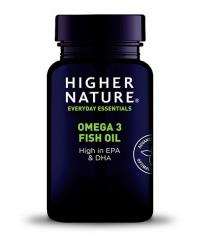 HIGHER NATURE Omega 3 Fish Oil / 180 Caps