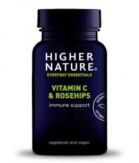 HIGHER NATURE Vitamin C & Rosehips / 90 Tabs