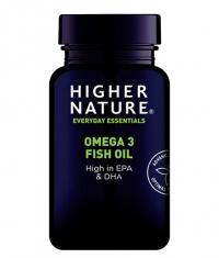HIGHER NATURE Omega 3 Fish Oil / 90 Caps