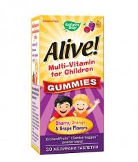 NATURES WAY Alive! Children's Multi-Vitamin Gummy / 30 Gummies