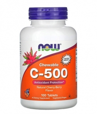 NOW Chewable C-500, Natural Cherry-Berry Flavor / 100 Tabs