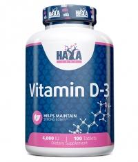 HAYA LABS Vitamin D-3 4000 IU / 100 Tabs