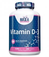 HAYA LABS Vitamin D-3 4000 IU / 250 Tabs