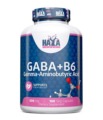 HAYA LABS GABA + B-6 / 500mg. / 100 Vcaps