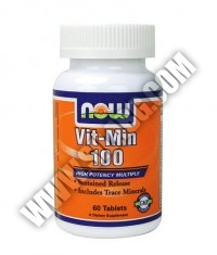 NOW Vit-Min 100 Multiple /Sustained Release High Potency/ 60 Tabs.