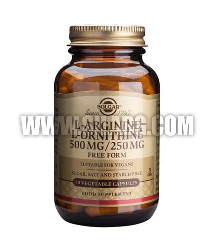 SOLGAR L-Arginine 500 mg. / L-Ornithine 250 mg. / 50 Caps.