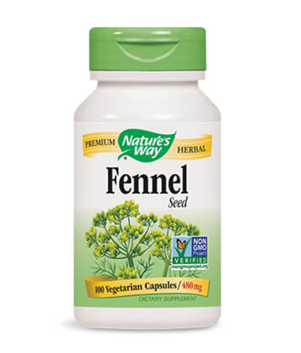 NATURES WAY Fennel Seed 100 Caps.