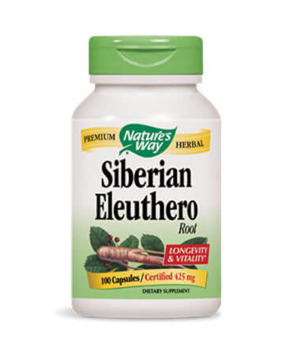 NATURES WAY Siberian Eleuthero Root 100 Caps.