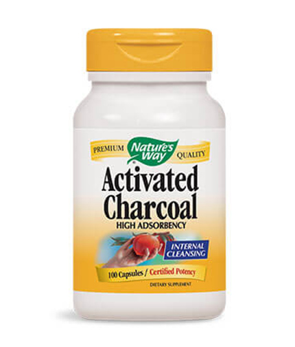NATURES WAY Activated Charcoal 100 Caps.