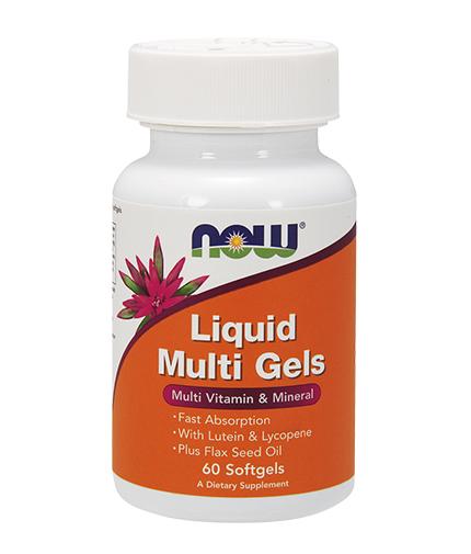 NOW Liquid Multi Gels 60 Softgels