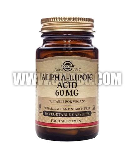 SOLGAR Alpha Lipoic Acid 60mg. / 30 Caps.