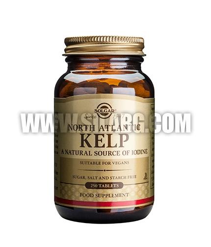 SOLGAR Kelp (Iodine) 200ug. / 250 Tabs.