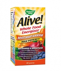 NATURES WAY Alive Whole Food Energizer Multi-Vitamins / 30 Tabs.