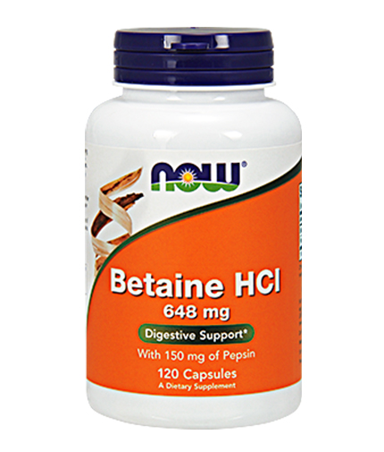 NOW Betaine HCL 648mg. / 120 Caps.