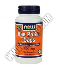 NOW Bee Pollen 500mg. / 100 Caps.