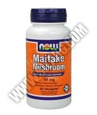 NOW Maitake Mushroom 60mg. / 60 Caps.