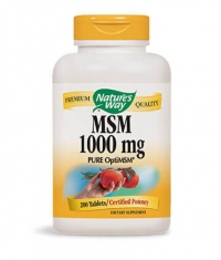 NATURES WAY MSM 1000mg / 200 Vcaps.