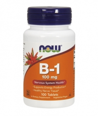 NOW Vitamin B-1 /Thiamine/ 100mg. / 100 Tabs.