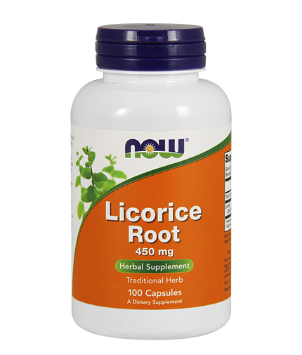 NOW Licorice Root 450mg. / 100 Caps.