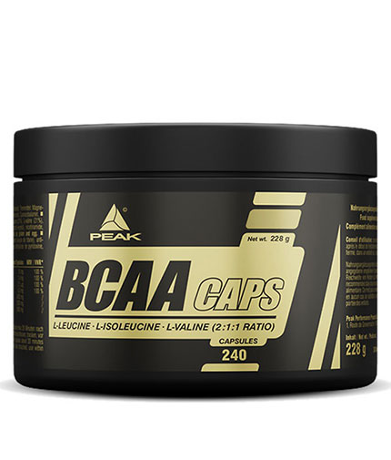 PEAK BCAA 240 Caps.