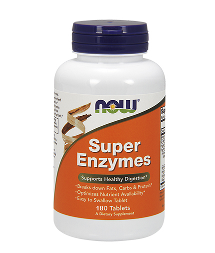 NOW Super Enzymes 180 Tabs.