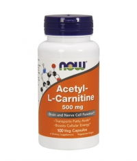 NOW Acetyl L-Carnitine 500mg. / 100 VCaps.