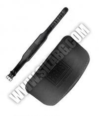 EVERLAST Black Leather Padded Belt