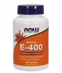 NOW Vitamin E-400 IU /Mixed Tocopherols/ 100 Softgels