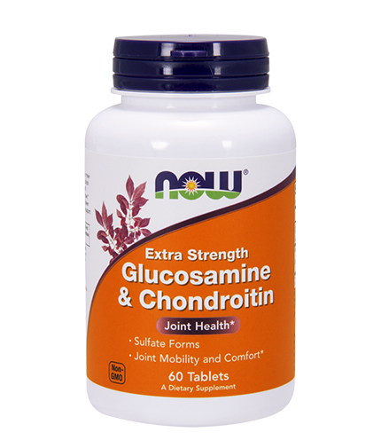 NOW Glucosamine & Chondroitin Sulfate Extra Strength / 60 Tabs.