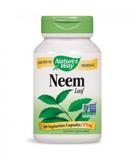 NATURES WAY NEEM LEAF 475 mg. - 100 caps.