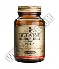 SOLGAR Betaine Hydrochloride + Pepsin 100 Tabs.
