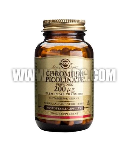 SOLGAR Chromium Picolinate 200ug. / 90 Tabs.