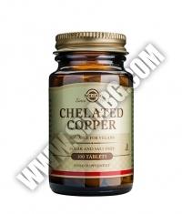 SOLGAR Chelated Copper 100 Tabs.